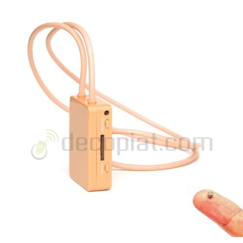 Cutiuta GSM pentru copiat cu cartela SIM + casca pe timpan cu microvibratii